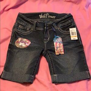 Denim Wallflower shorts